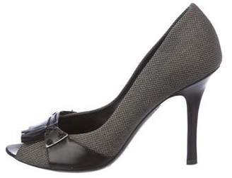 Bottega Veneta Peep-Toe High-Heel Pumps