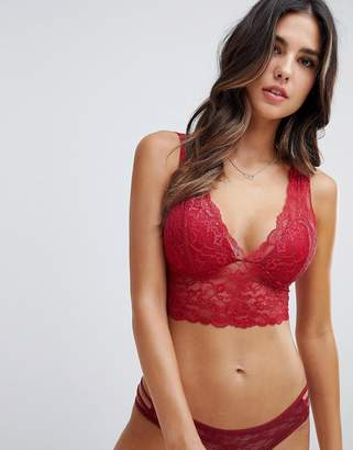 fab8823e21 Lindex Emelie Lace Padded Bralette in black