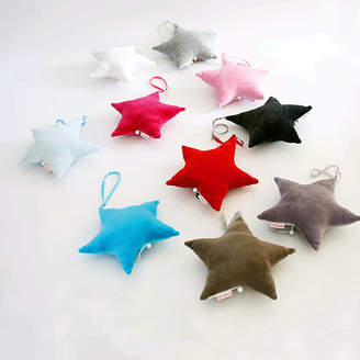 Little Baby Company Cotton Velour Star Shaped Musical Mobile