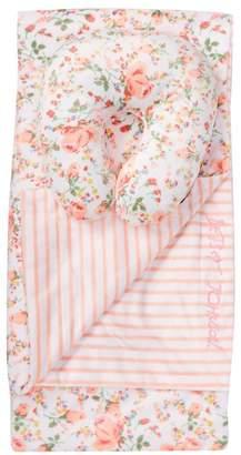 Betsey Johnson Floral Plush Blanket & Pillow Set