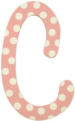 My Baby Sam Polka Dot Letter , Pink/White