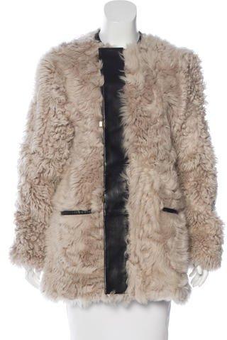 Balenciaga Balenciaga Shearling & Leather Coat