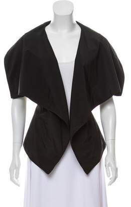 Karolina Zmarlak Leather Collared Vest