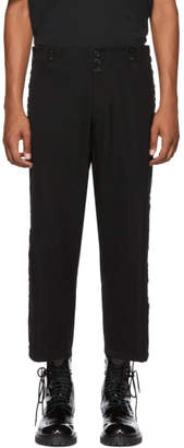 Ann Demeulemeester Black Wool and Cotton Trousers