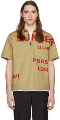 Burberry Beige Military Shirt