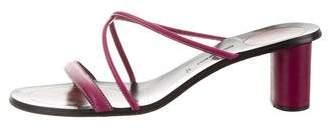 Bruno Magli Leather Slide Sandals
