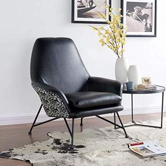 New Pacific Direct 4500019 Vasco PU Leather/Fabric Accent Chair Furniture