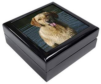 Golden Retriever in Water Keepsake/Jewellery Box Christmas Gift