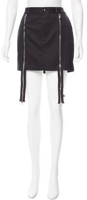 Hood by Air Zip-Accented Mini Skirt w/ Tags