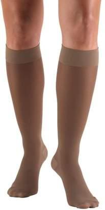 BEIGE Truform Women's Stockings, Knee High, Sheer: 30-40 mmHg, Beige, Small