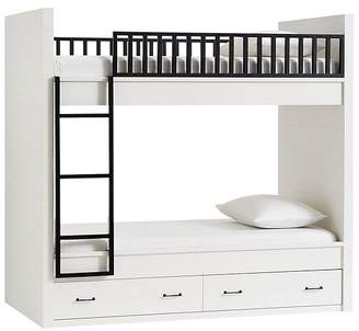 Pottery Barn Kids Grayson Twin-over-Twin Bunk Bed with Mattresses Set