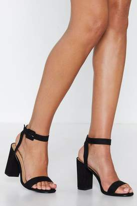 f81e2546c60 at Nasty Gal · Nasty Gal Reach in Faux Suede Sandal