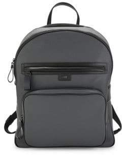Class Roberto Cavalli Logo-Strap Leather Backpack