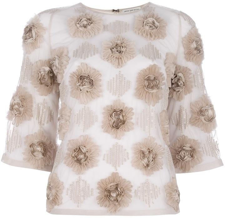 Dries Van Noten appliqued blouse