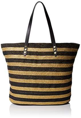 San Diego Hat Company Women's Tote Bag with Interior Zippered Pocket and Metal Snap Closure,One Size