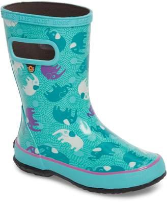 Bogs Skipper Elephant Print Rubber Waterproof Rain Boot