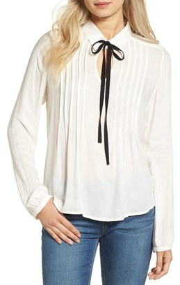 Women's Bp. Tie Neck Blouse $49 thestylecure.com