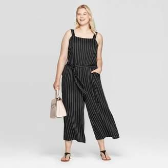 Ava & Viv Women's Plus Size Striped Jumpsuit - Universal Thread Black
