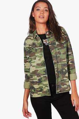 boohoo Tall Camo Jacket