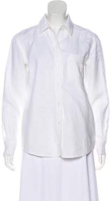 Ellen Tracy Linda Allard Linen Button-Up Top
