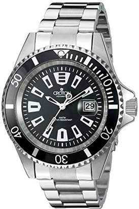 Croton Men's CA301282BKBK Analog Display Quartz Silver Watch
