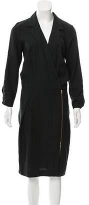 Dagmar Notch-Lapel Midi Dress