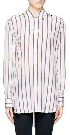 'Sade Tunic' stripe silk shirt
