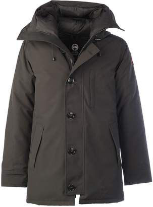Canada Goose Coat From :chateau Non Fur Long Logo On Sleeve