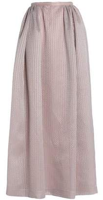 Emilia Wickstead Pleated Embroidered Cotton-Blend Maxi Skirt