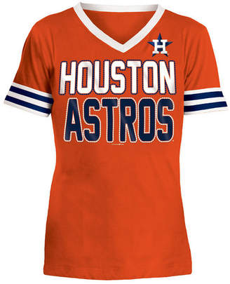 5th & Ocean Houston Astros Rhinestone T-Shirt, Girls (4-16)