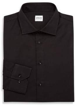 Armani Collezioni Slim-Fit Solid Dress Shirt