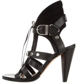 IRO Leather Cage Sandals