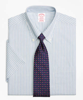 Brooks Brothers Madison Classic-Fit Dress Shirt, Non-Iron Split Stripe Short-Sleeve