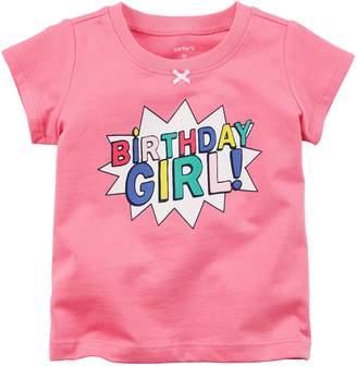 "Carter's Baby Girl Birthday Girl!"" Graphic Tee"