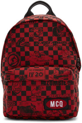 McQ Red Racer Check Classic Backpack