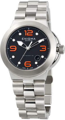Bulgari Enigma By Gianni Automatic Watch w/ Bracelet Strap, Black/Orange