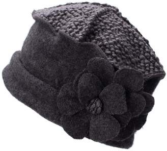 Generic Flower Trimmed Womens Wool Beanie Cap Dress Crochet Hat A125