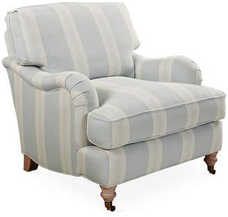 Robin Bruce Brooke Club Chair - Blue Stripe