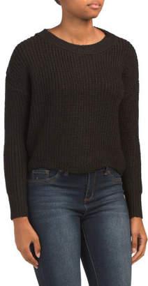 Juniors Scalloped Hem Sweater