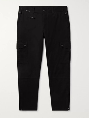 Dolce & Gabbana Slim-Fit Cotton-Blend Twill Cargo Trousers - Men - Black