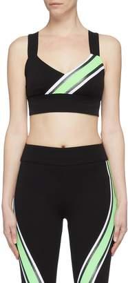 NO KA 'OI No Ka'oi 'Kanawai Ola' contrast stripe cross back sports bra