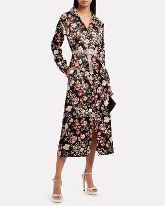 By Ti Mo Bytimo Floral Print Satin Shirt Dress
