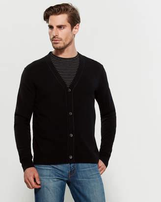 Alex Mill Black Reverse Seam Merino Wool Cardigan