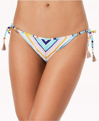Nanette Lepore Amalfi Coast Striped Side-Tie Cheeky Bikini Bottoms Women's Swimsuit
