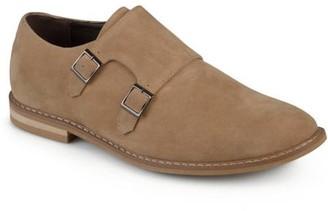 Daxx Men's Double Monk Strap Round Toe Faux Leather Shoes