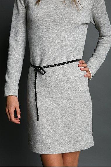 Ultra Skinny Braided Leather Belt