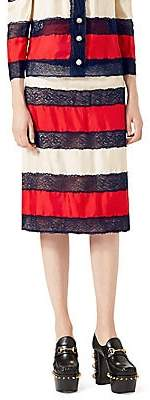 Gucci Women's Silk Twill Skirt