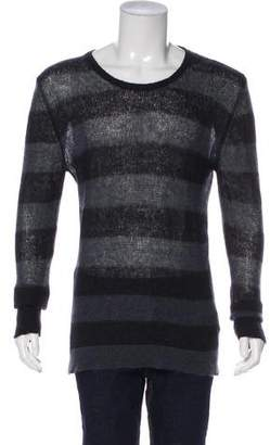 CNC Costume National Mohair Striped Crew Neck Sweater