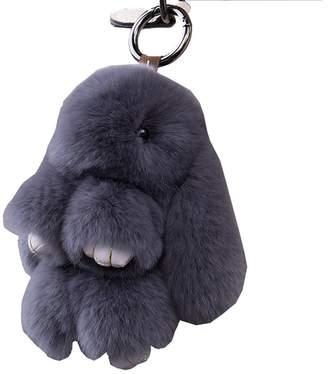 Shanghaipop Faux Fur Fluffy Bunny Large Fake Rabbit Furry Cute Keyring Bag Pendant Keychain