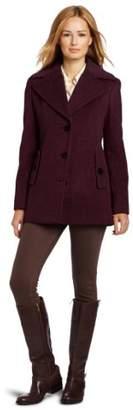 Calvin Klein Women's Single Breasted Wool Coat,8